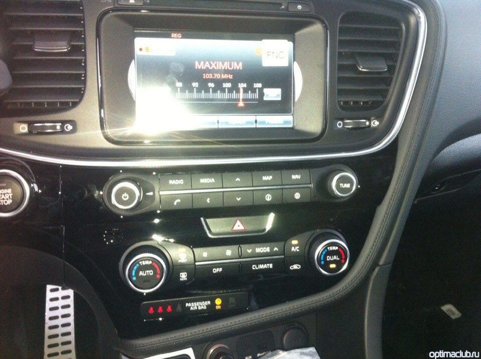 Kia Optima 2014 мультимедийная система